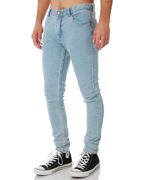 STONE BLUE MENS CLOTHING AFENDS JEANS - 12-01-050STNBL