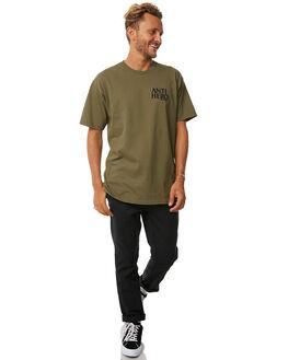 MILITARY GREEN MENS CLOTHING ANTI HERO TEES - 51020267JMGRN