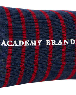 NAVY BURGUNDY STRIPE MENS CLOTHING ACADEMY BRAND SOCKS + UNDERWEAR - 19S004NVYST