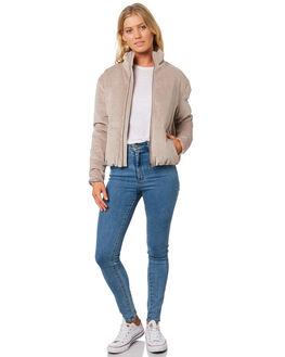 TAUPE WOMENS CLOTHING BILLABONG JACKETS - 6596894T12