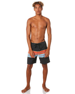 DIRTY BLACK MENS CLOTHING BANKS BOARDSHORTS - BS0199DBL