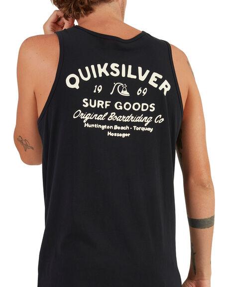 BLACK MENS CLOTHING QUIKSILVER SINGLETS - UQYZT04501-KVJ0