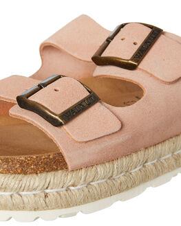 SUEDE NUDE WOMENS FOOTWEAR WALNUT FASHION SANDALS - FREIDASNUDE