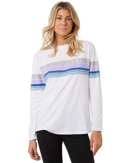 WHITE WOMENS CLOTHING RUSTY TEES - TTL1011WHT