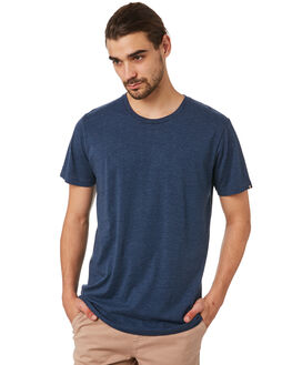 NAVY MARLE MENS CLOTHING ACADEMY BRAND TEES - BA333NMRL