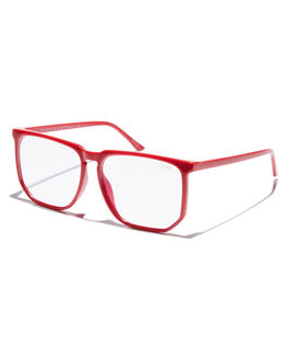 RED CLEAR WOMENS ACCESSORIES QUAY EYEWEAR SUNGLASSES - QW-000485REDCL