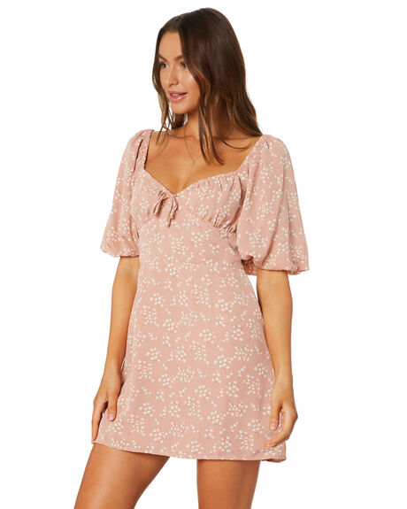 FLORAL WOMENS CLOTHING LULU AND ROSE DRESSES - LU23920FLORAL