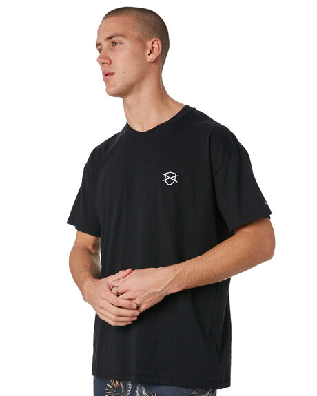 BLACK MENS CLOTHING ZANEROBE TEES - 129-METBLK