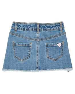 DENIM BLUE KIDS GIRLS EVES SISTER SHORTS + SKIRTS - 8034049DEN
