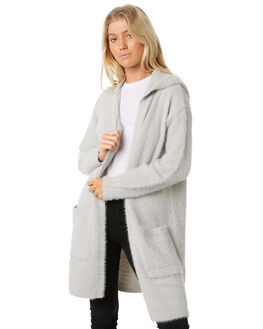 LIGHT GREY WOMENS CLOTHING ALL ABOUT EVE KNITS + CARDIGANS - 6414005LGRY