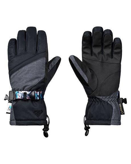 TRUE BLACK BOARDSPORTS SNOW ROXY GLOVES - ERJHN03092KVJ0