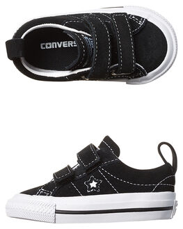 BLACK WHITE KIDS TODDLER GIRLS CONVERSE FOOTWEAR - 756131BLK