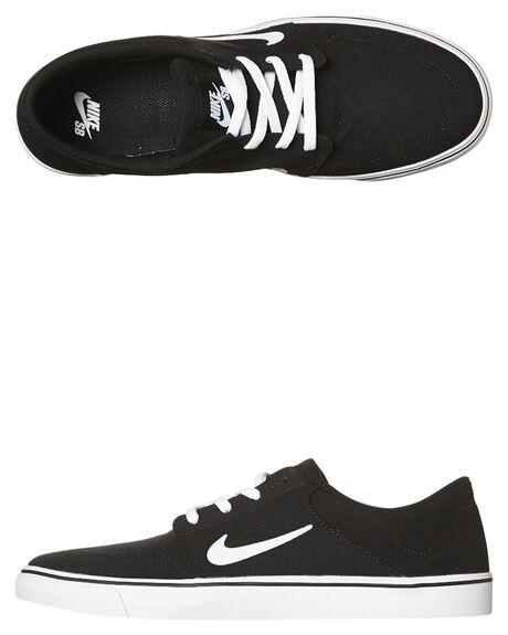 nike sb portmore canvas shoe - black white