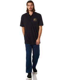 BLACK MENS CLOTHING PASS PORT SHIRTS - PHALLPLOBLK