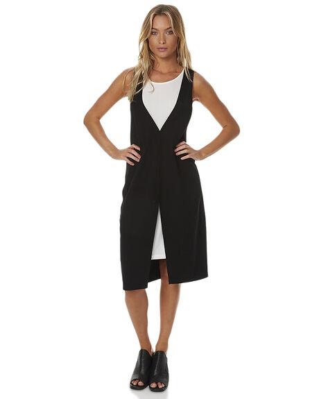 BLACK WHITE WOMENS CLOTHING MINKPINK DRESSES - MB1609060BLKW