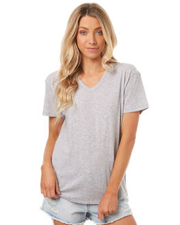 GREY MARLE WOMENS CLOTHING ASSEMBLY TEES - AW-S1704GRYM