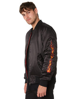 BLACK MENS CLOTHING THE PEOPLE VS JACKETS - AW19048BLK