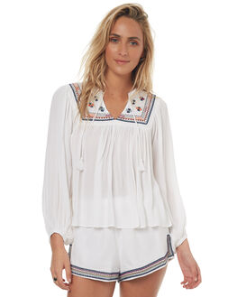 WHITE WOMENS CLOTHING TIGERLILY FASHION TOPS - T372058WHT