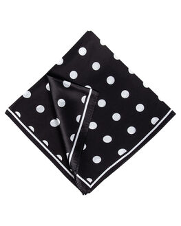 BLACK WHITE POLKA WOMENS ACCESSORIES BILLINI SCARVES + GLOVES - AS18BKWHT