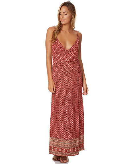 RUST PRINT WOMENS CLOTHING SWELL DRESSES - S8161464RST