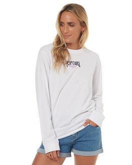 WHITE WOMENS CLOTHING RIP CURL TEES - GTETT1WHT