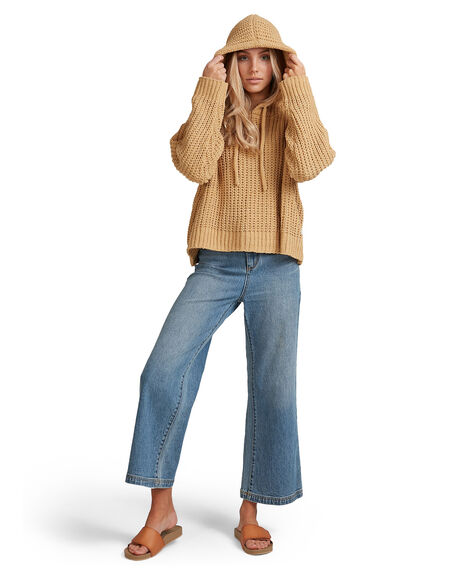 CURRY WOMENS CLOTHING BILLABONG KNITS + CARDIGANS - BB-6517304-CUR