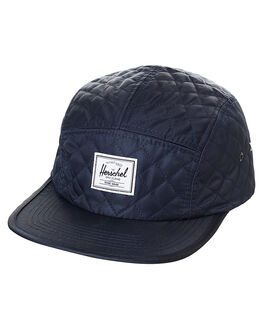 NAVY QUILTED NYLON MENS ACCESSORIES HERSCHEL SUPPLY CO HEADWEAR - 1007-0107NVY