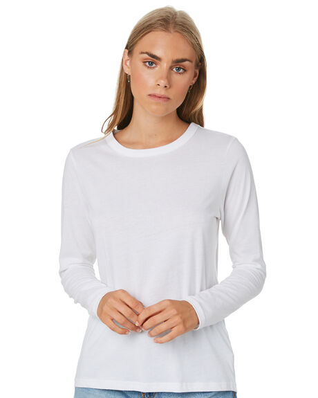 WHITE WOMENS CLOTHING NUDE LUCY TEES - NU23033WHT