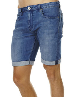 CAMBRIDGE BLUE MENS CLOTHING RIDERS BY LEE SHORTS - R-500668-V47BCLU