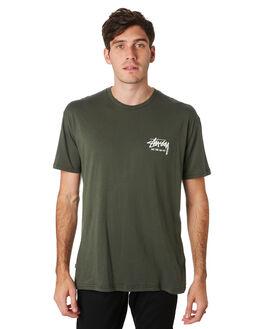 FLIGHT GREEN MENS CLOTHING STUSSY TEES - ST091000FLTGN