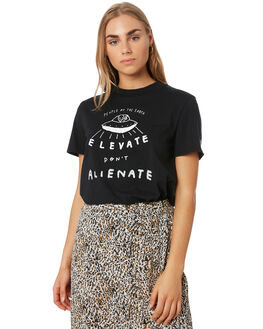 BLACK WOMENS CLOTHING VOLCOM TEES - B3541906BLK