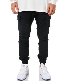 BLACK MENS CLOTHING ZANEROBE PANTS - 711-FLDBLK