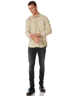 PIGMENT DYE SAND MENS CLOTHING NUDIE JEANS CO SHIRTS - 140501B35