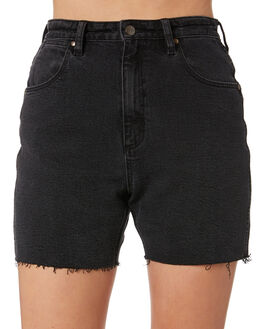 LEVEE BLACK WOMENS CLOTHING WRANGLER SHORTS - W-951621-LQ6