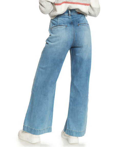 MEDIUM BLUE WOMENS CLOTHING ROXY JEANS - ERJDP03260-BMTW