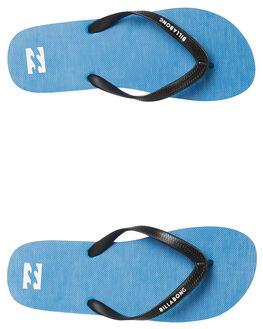 WASHED BLUE MENS FOOTWEAR BILLABONG THONGS - 9682947WBLU