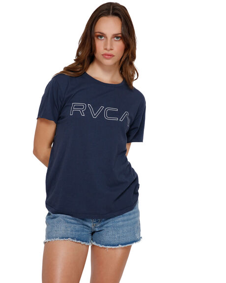 MOODY BLUE WOMENS CLOTHING RVCA TEES - RV-R281692-MDY