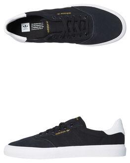 BLACK WHITE MENS FOOTWEAR ADIDAS SKATE SHOES - SSB22703BKWHM