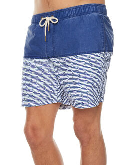 BLUE WHITE MENS CLOTHING ACADEMY BRAND BOARDSHORTS - 18S712BLWH