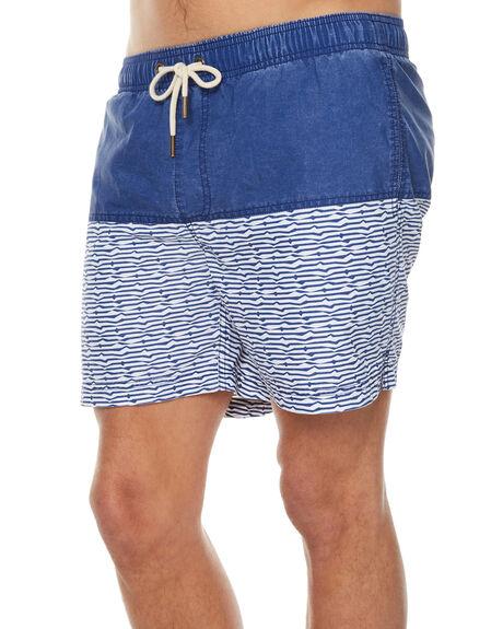 BLUE WHITE MENS CLOTHING ACADEMY BRAND BOARDSHORTS - 18S712BLWH
