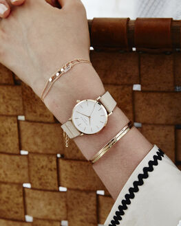 SOFT PINK ROSE GOLD WOMENS ACCESSORIES ROSEFIELD WATCHES - WSPR-W73SOPNK