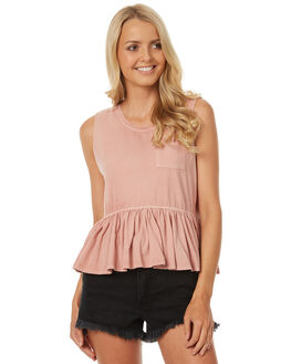 BLUSH WOMENS CLOTHING ALL ABOUT EVE SINGLETS - 6401037PNK