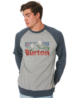 GRAY HEATHER MENS CLOTHING BURTON JUMPERS - 196501020