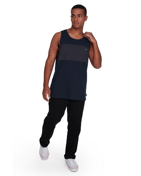 NAVY MENS CLOTHING BILLABONG SINGLETS - BB-9503503-NVY