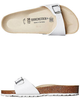 WHITE WOMENS FOOTWEAR BIRKENSTOCK SLIDES - 040731WWHI