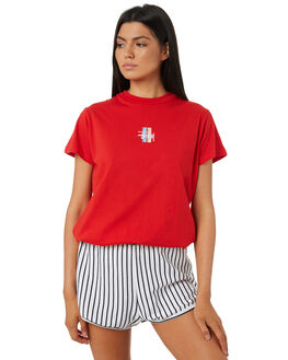 RISKY RED WOMENS CLOTHING STUSSY TEES - ST195014RISKY