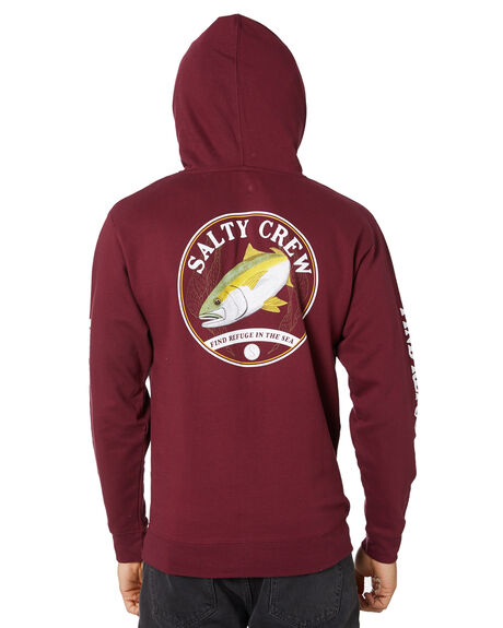 BURGANDY MENS CLOTHING SALTY CREW HOODIES + SWEATS - 20335107BURG