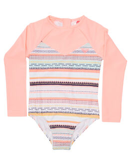 BRIGHT WHITE LIVIN SURF RASHVESTS ROXY TODDLER GIRLS - ERLWR03063WBB3