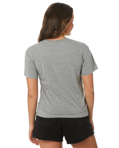 DARK GREY HEATHER WOMENS CLOTHING HURLEY TEES - HAGTS21COH063