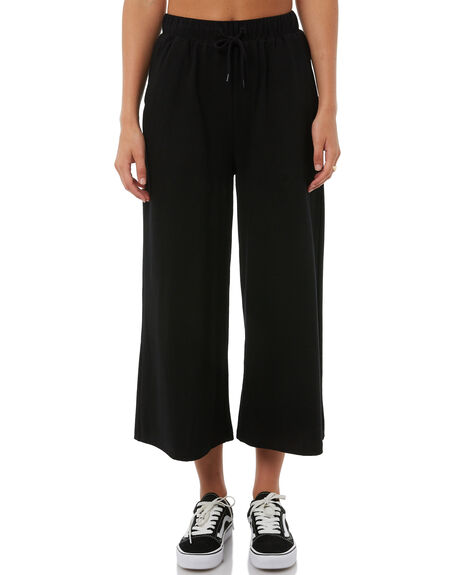 BLACK WOMENS CLOTHING STUSSY PANTS - ST185600BLK